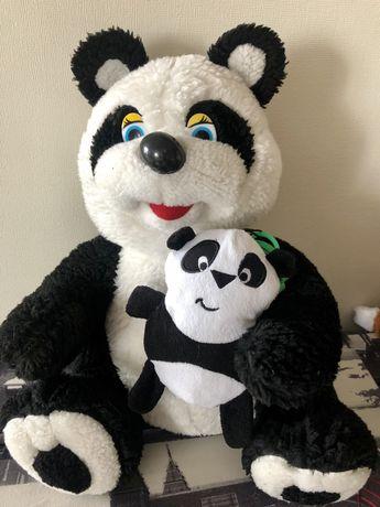 Большая мягкая игрушка Панда с Детенышем