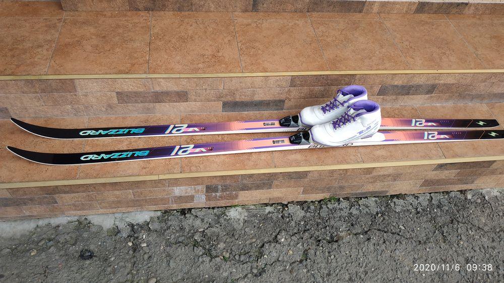 Продам лижі з ботосами Макарево - изображение 1