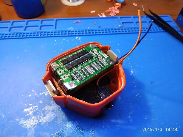Ремонт, перепаковка аккумуляторов для шуруповертов и т.д