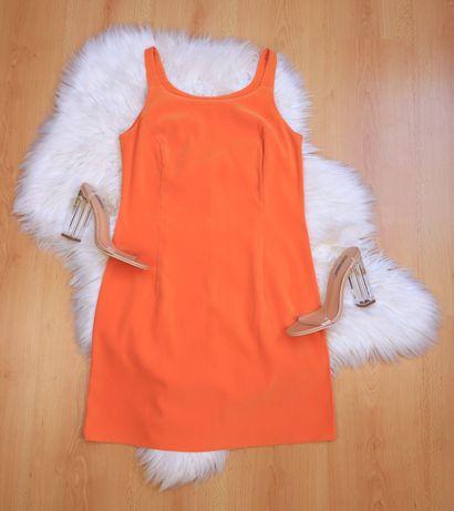 Pomarańczowa sukienka prosta vintage