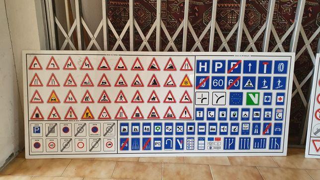 Placas acrilicro Sinais de trânsito
