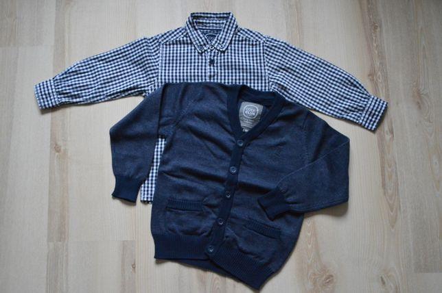 elegancki komplet - koszula + sweterek, SMYK COOL CLUB
