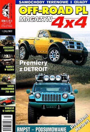 OFF ROAD PL nr1/2002,Defender 110,GAZ 69,Robur LO2002A,Discovery II,