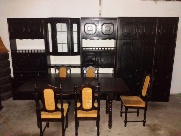 Mebloscianka,segment,stol,krzesla 5 sztuk,komplet