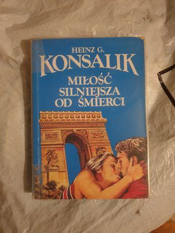"""książka """"Miłość silniejsza od śmierci"""" Heinz G. Konsalik"""