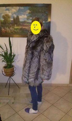 Naturalne FUTRO z lisa srebrnego (płaszcz/kurtka)