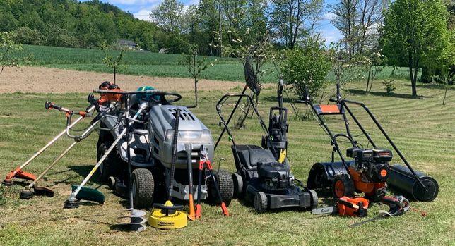 Koszenie oraz pielęgnacja trawnika i ogrodu, zakładanie agrotkaniny