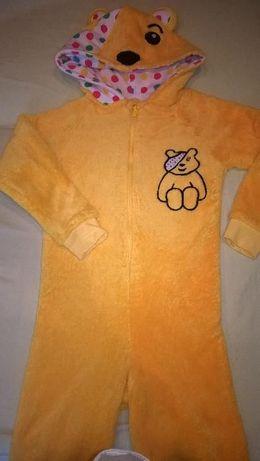 kombinezon piżama George 5-6 lat 110-116 puchatek piżamka