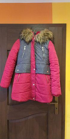 Kurtka zimowa dla dziewczynki rozmiar 152cm
