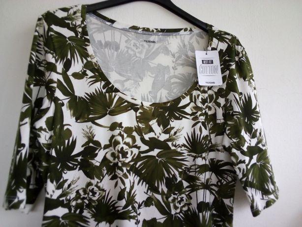 Blusa padrão verde - Tezenis - Tamanho L - Nova!