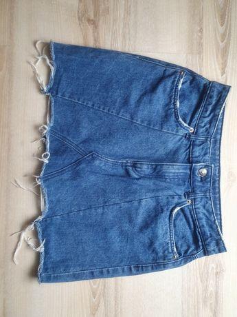 Spódnica jeansowa, krótka, dżins