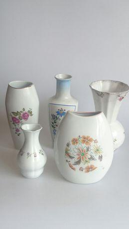 Wazony porcelanowe Prl Chodziez Bogucice Karolina Lubiana