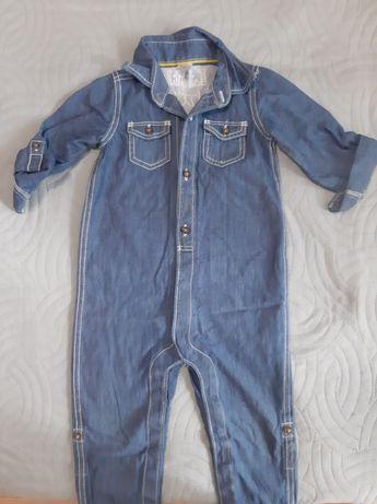Комбинезон джинсовый ромпер человечек Carters 18 м