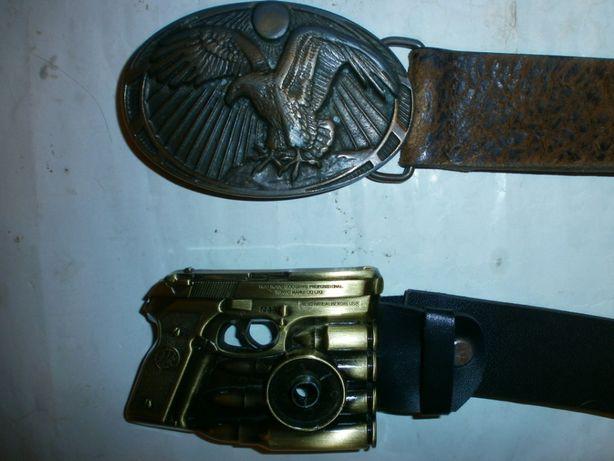 Ремень для брюк с орлом и пистолетом