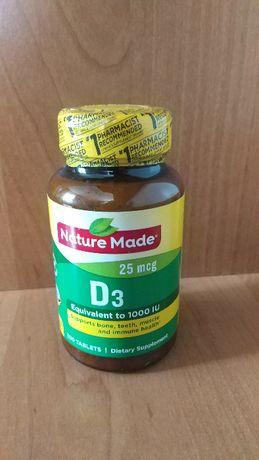 Nature Made Vitamin D3 25 mcg (1000 IU) 300 таблеток Витамин Д3