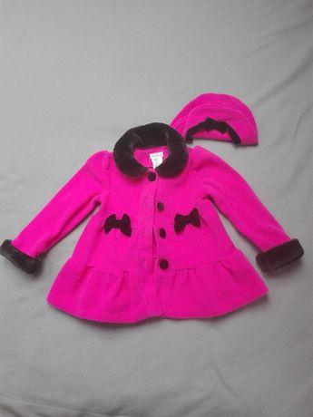Piękny płaszczyk dla dziewczynki rozmiar 98