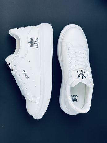 Кожаные белые Туфли кроссовки кеды Adidas кросівки Адідас Адидас Кожа!