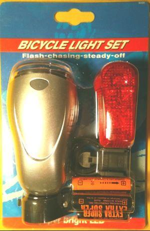 Zestaw lampek rowerowych