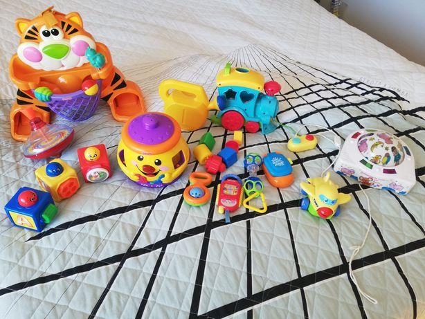 Zabawki edukacyjne Fisher Price i inne
