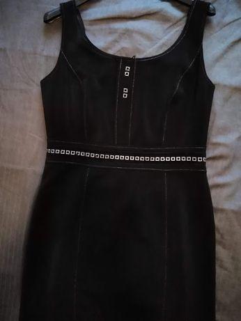 sukienka z srebrymi wstawkami,(wesele,komunia..)