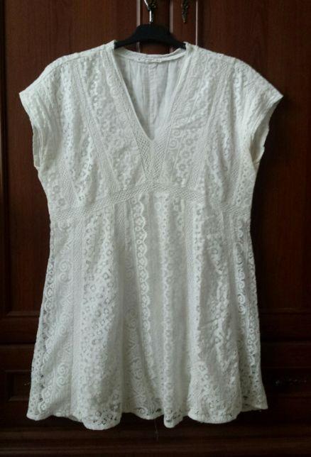 Tunika (np ciazowa) sukienka wygodna biala/ ecri rozm L/XL 40-42 Mango