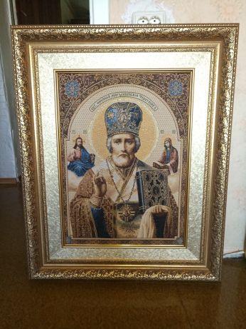 Ручная работа - Картина, икона из шелка 6000 рублей