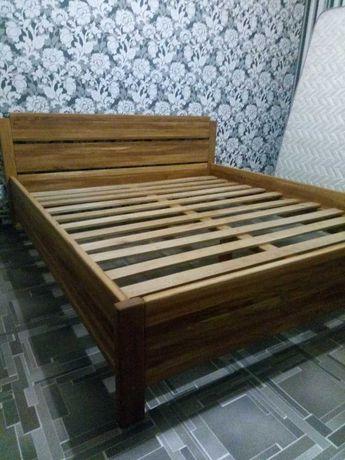 Кровать 2спальная, деревянная. Дуб, ясень. 160*200 см