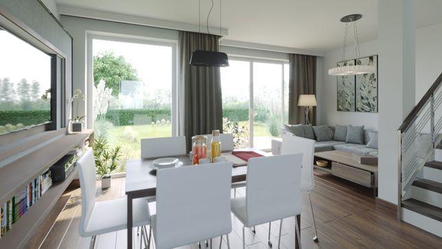 Invest Complex Nowoczesne domy z ogrodami Dominowo