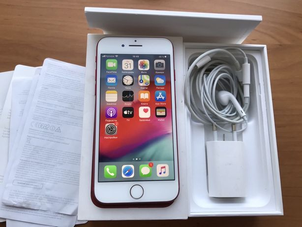 Iphone 7 128gb, цвет Red, Neverlock