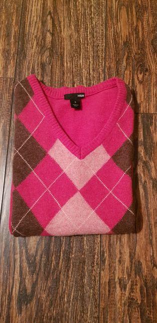 Sweter damski H&M S, 70% wełna owcza