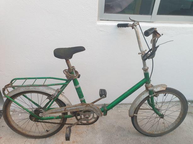 Bicicleta IBA dobrável muito antiga mais de 40 anos