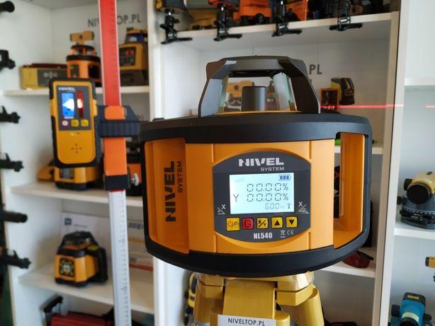Niwelator laserowy NIVEL SYSTEM NL540 CYFROWE Spadki Pion Poziom