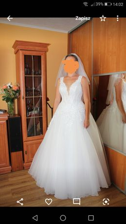 Suknia ślubna biała (z regulacją)