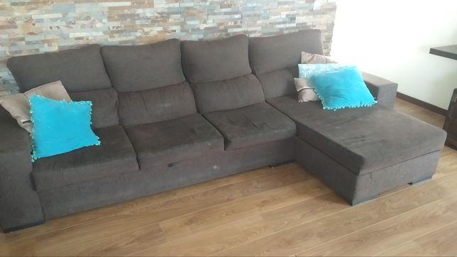 Sofá 3 lugares mais chaise lounge