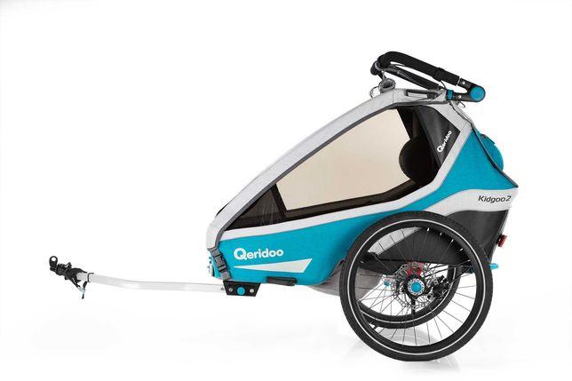 Przyczepka rowerowa QERIDOO KIDGOO 2 SPORT - Hamulec tarczowy!