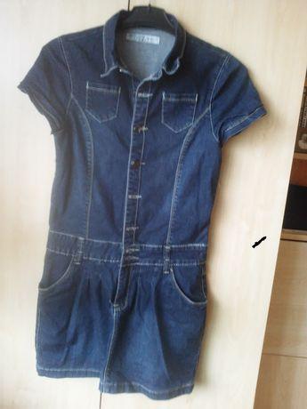 sukienka, tunika jeans