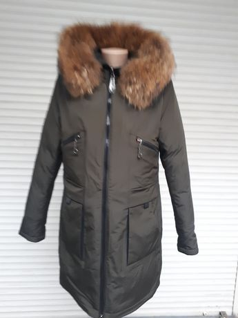 Куртка Хаки с натуральным мехом