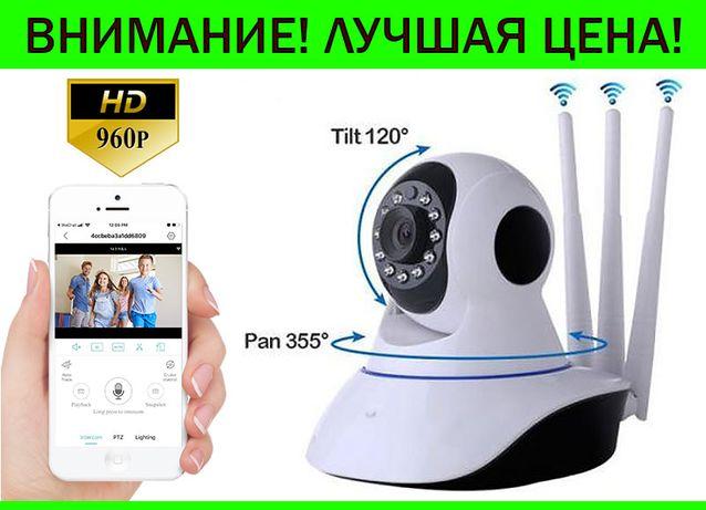 Беспроводная поворотная WIFI IP камера видеонаблюдения v380 видеоняня