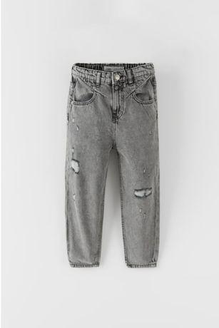 Zara nowe spodnie jeansowe typu mom fit boyfrend 140