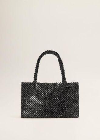 Новая черная сумка из бусин, фирменная. Распродажа. Дешево. Торг