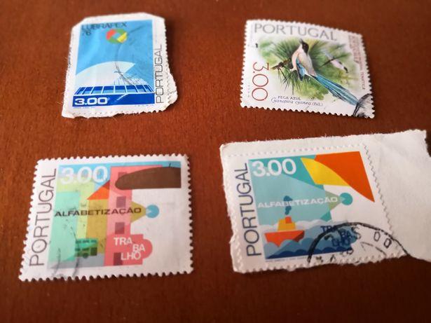 154 selos Portugal, França, Alemanha, Reino Unido, Austrália e Brasil