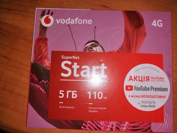 Стартовый пакет Vodafone с красивым номером