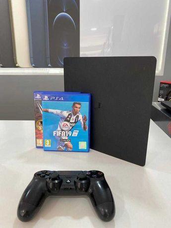 PS4 Slim 1TB Preta + 1 Comando + 2 Jogos Fisicos - Usado