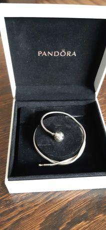 Naszyjnik Pandora srebrny 45 cm ORGINALNY