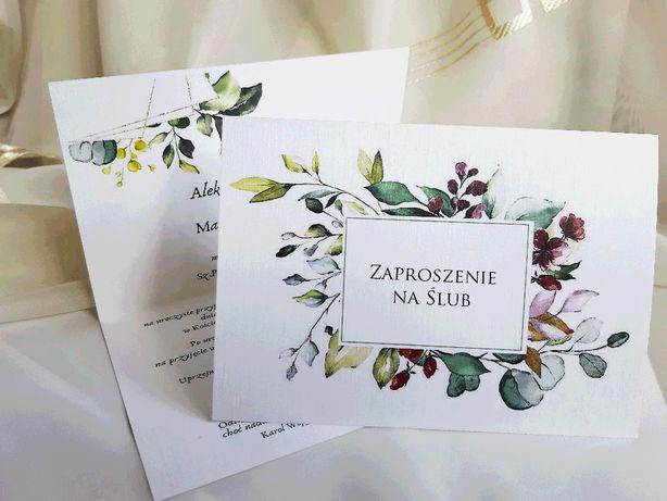 Zaproszenia ślubne Kwiaty RUSTYKALNE + KOPERTA