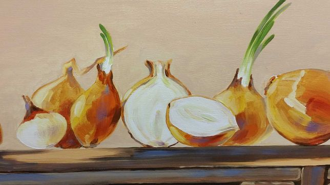 """Quadro """"Sardinhas """" óleo sobre tela."""