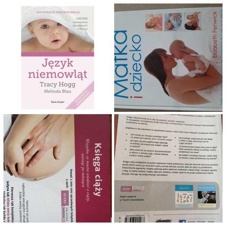 Książki 3szt - Księga Ciąży, Matka i dziecko oraz Język Niemowląt