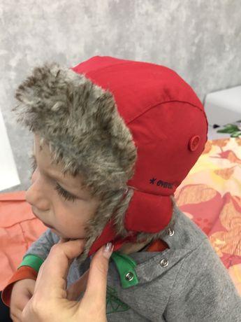 Детская теплая шапка 48/50 размер