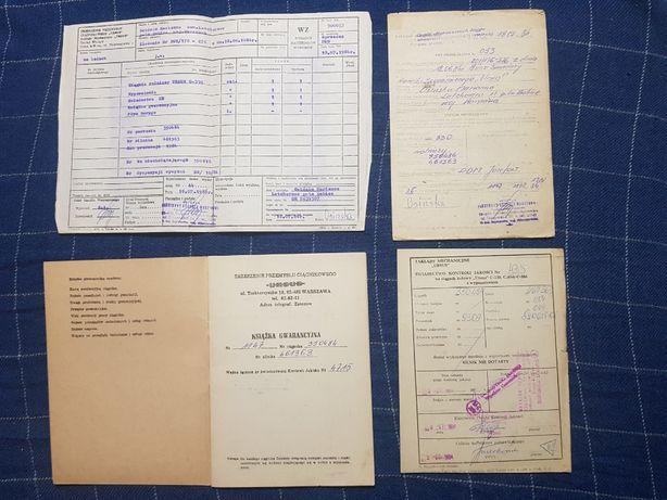 Ursus C-330 książka gwarancyjna 1984r
