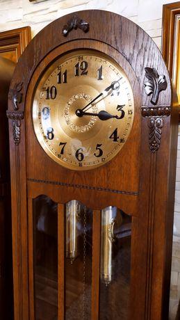 Piękny zabytkowy zegar stojący sygnowany FMS baba